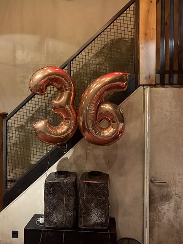 Folieballon Cijfer 36 Cafe in the City Rotterdam