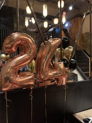 Folieballon Cijfer 24 Cafe in the City Rotterdam