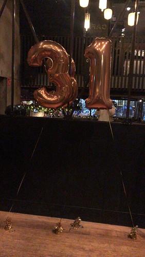Folieballon Cijfer 31 Cafe in the City Rotterdam