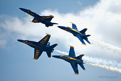 Blue Angels at Joint Base Andrews Airshow 2019 (GSB Photography) Tags: blueangels usa america f18 fa18 hornet usn unitedstatesnavy washingtondc jointbaseandrews airshow flight aircraft plane aviation jet flying flyby formation contrail vaportrail nikon d7200 cloud