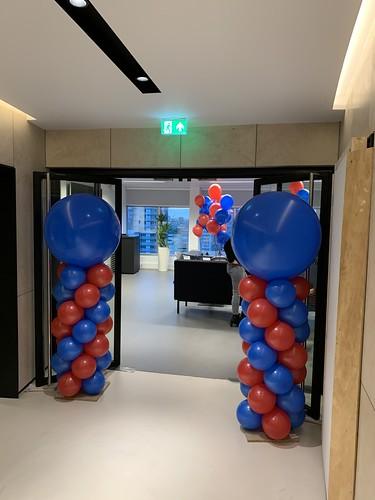 Ballonpilaar Breed Rond MS Amlin WTC Rotterdam