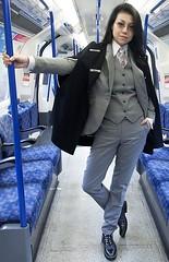 Sonia (bof352000) Tags: woman tie necktie suit shirt fashion businesswoman elegance class strict femme cravate costume chemise mode affaire