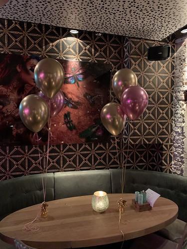 Tafeldecoratie 3ballonnen Chrome Wijnbar 1NUL8 Rotterdam