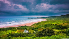 Whitepark Bay,Co Antrim,Ireland (DaveMo2017) Tags: landscape ireland beautiful seascape photographer cloud drama skyline moody donegal shotoftheday coast colour water wild ocean sea sky clouds coantrim northernireland beach sand green hills house irish atlantic waves cottage