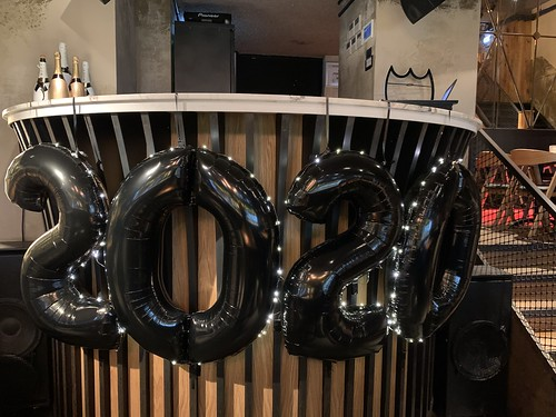 Folieballon Cijfer 2020 met LED lampjes Oud en Nieuw Cafe in the City Rotterdam