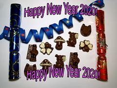 Happy New Year 2020 (ingrid eulenfan) Tags: stillleben stilllife silvester glück neujahr happynewyear schokolade chocolate sweetness süsigkeiten sweets süs