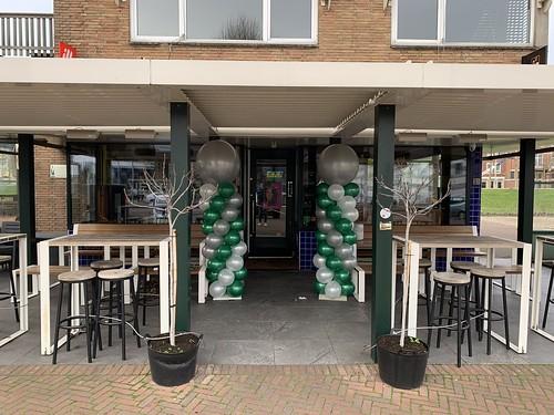 Ballonpilaar Breed Rond Eetcafe Verhip Rotterdam