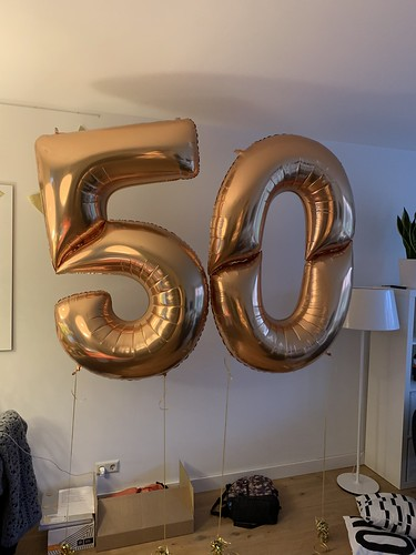 Folieballon Cijfer 50 160cm Verjaardag 50 Jaar Valkenburg ZH Abraham Sarah