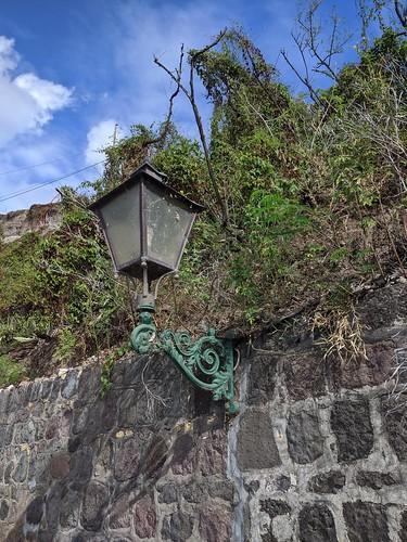 Lamp on The Old Slave Path, Oranjestad, Statia, Nov 2019