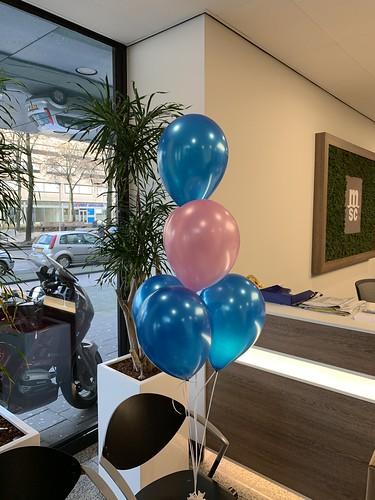 Tafeldecoratie 6ballonnen MSC Rotterdam