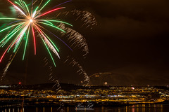 The old year (Toftus Photography) Tags: kvaløysletta troms norway tromsø no norge nordnorge northernnorway cityscape farve color canon eos 5d mark iv himmel skyer sky clouds fireworks fyrverkeri nyttår nyt år new year arcticlight arctic