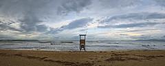 welcome 2020 (koaxial) Tags: fb189781afb189783aa koaxial mallorca 2019 beach empty guard sand sea sky himmel clouds wolken waves water shore küste landscape hugini stitch