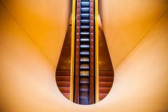 The Skyline's on Fire (Thomas Hawk) Tags: america california franklloydwright marin marinciviccenter marincounty sanrafael usa unitedstates unitedstatesofamerica architecture escalator fav10 fav25 fav50 fav100