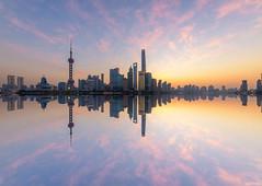 Huangpu Dawn (ttarpd) Tags: republic china republicofchina world travel shanghai city cityscape oriental pearl tv tower huangpu river bund thebund reflection sunrise dawn daybreak sun rise
