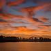 Sunrise over Webb Lake, Babcock Wildlife Management Area near Punta Gorda, Florida