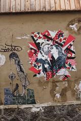 M.Perre + Olivia Paroldi_8663 rue des Cascades Paris 20 (meuh1246) Tags: streetart paris paris20 belleville mperre oliviaparoldi ruedescascades enfant couple baiser