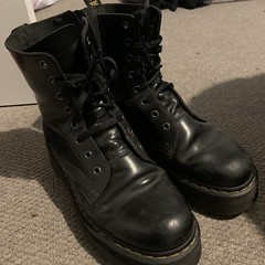Well worn Docs (New Rock Boots & Dr Martens) Tags: abused dark hardlyworn laced safetyboots laces black boots broken boot blue combat crush rock stickysoles dirty drmartens distressed industrial dust used leather fetish heavvy fetiesh heel wet emo finehaircell safety outfit shaft platform nonnsafety waterproof goth engineer original vintage white trashed trash ripped punk work sole soles moto wornout toe ruined steeltoe stained studded steel stain stomp u