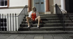 dec 2019 (Fiona Ayre) Tags: fiona ayre ayr ayrshire wellington square tranny crossdresser leg spread