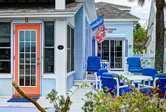 colors of Pass-a-Grille 5 (albyn.davis) Tags: house passagrille florida usa travel door windows chairs furniture colors colorful blue orange building
