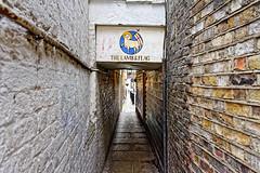 Back Door (Croydon Clicker) Tags: alley entrance lane walls doorway sign pub inn hostelry london westminster nikond700 nikkoraf28105mmd