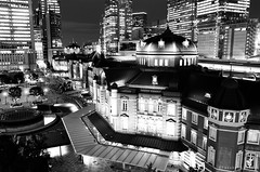53530035.jpg (YusukeMIYA) Tags: japan tokyo 東京 monochrome bw nikonf3 ai28mmf28s fujineopan100acros filmcamera film nikon 東京駅 tokyostation nightview kitte