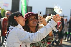Let's drink to the year ahead! (Carouge5) Tags: wine drink hat prettygirl toast selfie phone