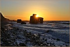 Sonnenuntergang bei ... (der bischheimer) Tags: sonnenuntergang sunset sundown ostsee darss dars bunker baltic strand wustrow ahrenshoop lostplace lostplaces silhouette weststrand