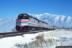 California Zephyr on New Year's Day (jamesbelmont) Tags: amtrak californiazephyr emd f40ph passenger superliner mapleton spanishfork wasatch train railroad railway locomotive winter