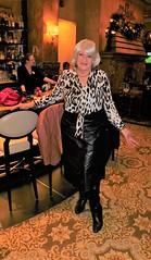 A Winter's Day, In A Deep And Dark December . . . (Laurette Victoria) Tags: bar hotel milwaukee pfisterhotel skirt leather boots blouse animalprint laurette woman