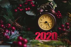 Happy New year! (Chapter2 Studio) Tags: stilllife sonya7ii simplicity chapter2studio calm newyear 2020 clock berries happynewyear