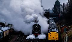 (Peter Leigh50) Tags: great gcr central railway railroad rail steam station standard class 5 5mt 73156 377 train trees track fujifilm fuji xt2