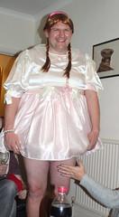 my pink satin baby dress (samantha rebecca) Tags: sissy ab adultbaby sissylittlegirl sissyadultbaby adultlittlegirl ilovethisdress pinkdress satindress newyearsbaby diaperbaby