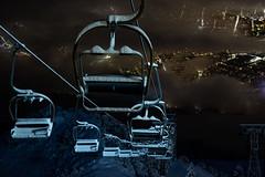 Geisterbahn (zirano) Tags: chairlift sesselbahn umlaufseilbahnen night lift nacht aerial ski alps tirol alpen tyrol innsbruck ressort liftanlage