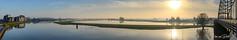 IJssel panorama (Hans van Bockel) Tags: 1680mm bruggen d7200 hansvanbockel ijssel lightroom nikkor nikon oudjaar oudjaarsdag rivier stad wandeling zonnig deventer overijssel nederland panorama pano wilhelminabrug pothoofd stitching