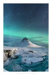 Kirkjufell, Iceland (Andrea Heribanova) Tags: kirkjufell iceland snow winter nightphotography auroraborealis northernlights landscape mountain freezing astrophotography