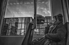 ClearAndPresentDanger (Peter M. Meijer) Tags: rotterdam holland ricohgriii street strada strasse tram ret people woman bmw poortstraat