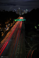 Los Angeles nights (Matt Straite Photography) Tags: night lights tripod freeway los angeles losangeles la downtown skyline bridge sky dark color cars outside outdoor danger long slow shutter