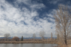 Cloud creep (Rocky Pix) Tags: cloudcreep autumn pond water stvrain creek cottonwood pastoral parks open space longmont boulder county colorado rockies river basinrockypixrockymountainpixw michel kiteleyf161125thsec32mm2470mm f28 f28g nikkor normalzoom handheld