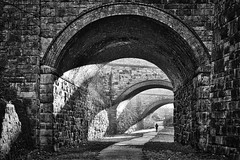Heckmondwike West Yorkshire 1st January 2020 (loose_grip_99) Tags: heckmondwyke west yorkshire england uk disused railway railroad rail cutting bridge stone brick lnwr new line trains railways history industrial archaeology architecture january 2020