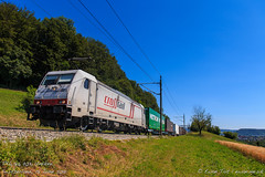 TXL 186 903, Umiken (MacCookie) Tags: 186903 1869031 918061869031dxrail baureihe186 bombardier br186 brugg cbrail cantonofaargau class186 confoederatiohelvetica crossrail crossrailag e186903xr e186903 europe germanrailways kantonaargau macquarieeuropeanrail schweiz suisse svizzera swissconfederation switzerland traxx traxxf140ms txlogistik txl umiken xrail bahn cargotrain containertrain eisenbahn electriclocomotive engine freighttrain güterzug intermodaltrain locomotive piggybacktrain railways zug aargau