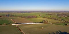 Mit dem IC 2 durch Ostfriesland (4) (Klaus Z.) Tags: eisenbahn kbs 390 detern ostfriesland br 1465 personenzug intercity ic2 db fernverkehr dostos drohnenbild winter 2019
