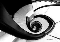 Berlin Stairs (petra.foto busy busy busy) Tags: berlin germany treppe treppenhaus treppengeländer wendeltreppe around architektur stairs monocrom fotopetra canon