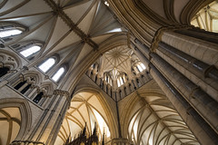 Cathedral Ceiling (simonannable) Tags: fujifilmxt2 fujifilm samyang12mm lincoln lincolncathedral architecture arch gothic style