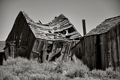 Bodie Shacks (Bob_Wall) Tags: bobwall btwgf blackandwhite monochrome bodie ghosttown shacks sierras rundown