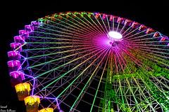 Ferris wheel of colors (Ismael Owen Sullivan) Tags: colors colores color nikon night noche nocturno navidad christmas travel turismo traveler viajar vigo photography pontevedra españa europa europe galicia foto fotografia d5300 digital dark wallpaper