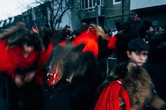 Bear Dance (Max Sturgeon) Tags: bear dance parade street streetphotography travel travelphotography flash flashphotography comanesti romania blacksea