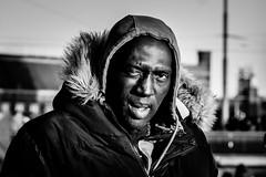 streetportrait 1 January 2020 (Gerrit-Jan Visser) Tags: geimporteerd street portrait bnw blackandwhite amsterdam damrak