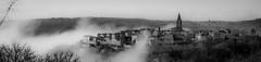 Puycelsi Tarn France (Stratoosfer - Puycelsi France) Tags: noiretblanc saariysqualitypictures canon villagedefrance monochome blackandwhite ambience brume brouillard nuages tarn sudouest 5dmark4 70300 efs