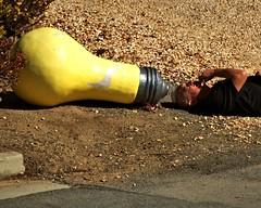 Juan Gets a Bright Idea (Bob_Wall) Tags: bobwall btwgf light juan idea alviso person funny humor