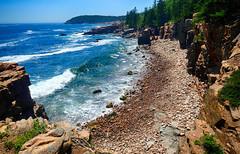Acadia coastline in Maine (` Toshio ') Tags: toshio maine acadianationalpark acadia nationalpark america usa coast coastline beach mountain ocean atlantic atlanticocean wave rocks rocky pine tree fujixt2 fuji xt2 sea